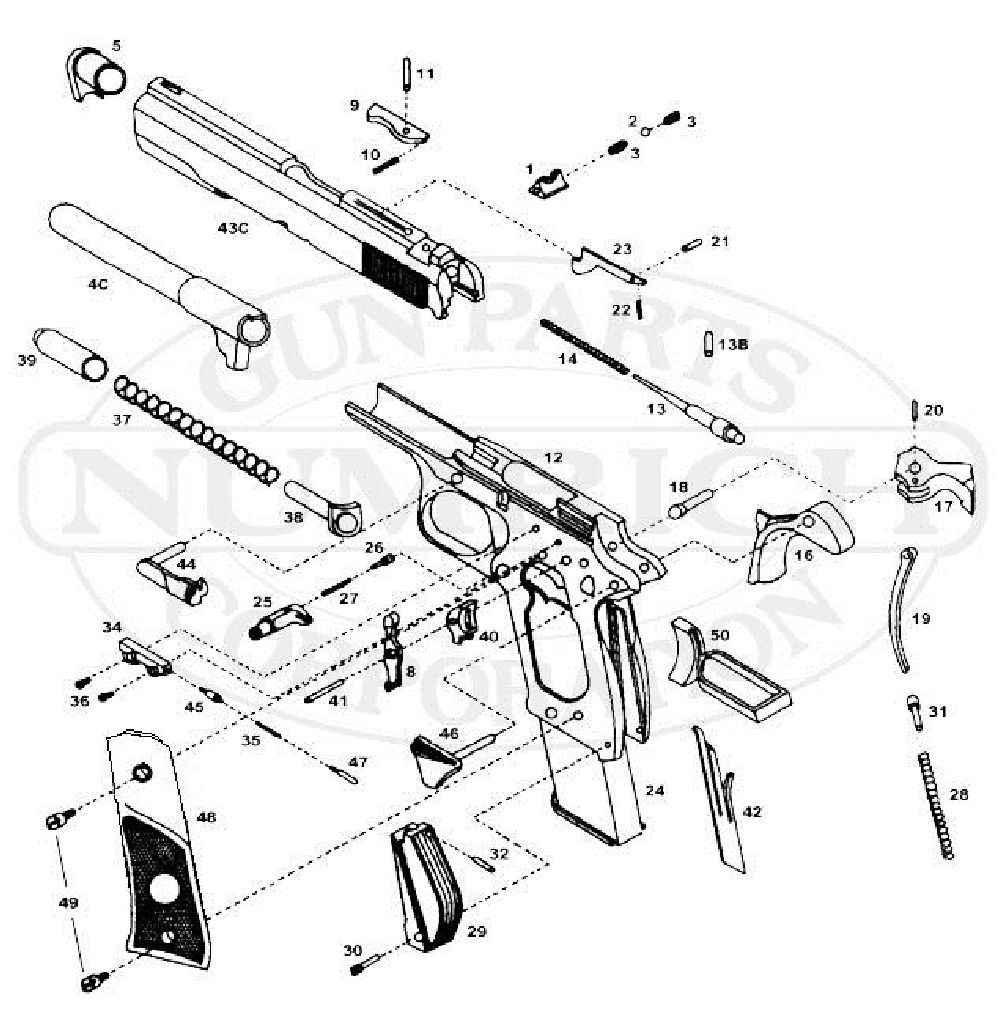 1911 Pistol Assembly Diagram Electrical Wiring Kimber Parts Model Armscor Baby Rock 380 Review With Description